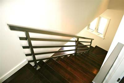 staircase handrails powdercoated